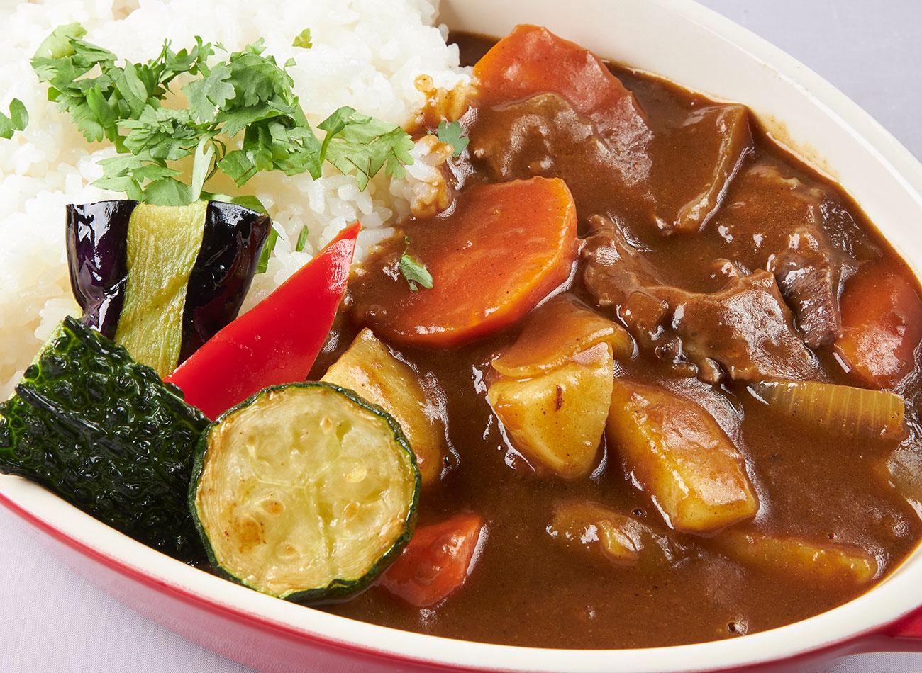 ゴロゴロ野菜の欧風カレー